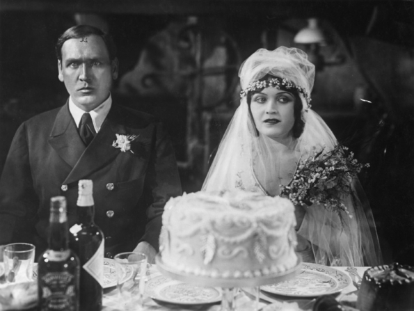 Hans Rehmann and Pola Negri in wedded blitz. The Woman He Scorned (1929) with the bridegroom very unhappy at his wedding