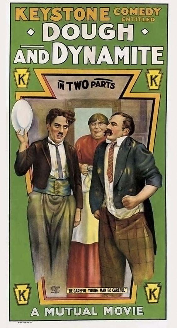 Dough and Dynamite (1914, Charlie Chaplin Keystone) US poster