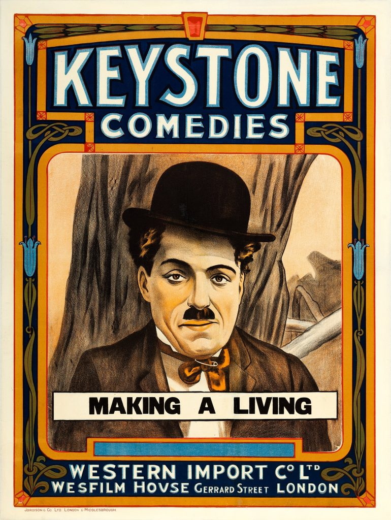 Making a Living (1914, Charlie Chaplin Keystone) UK poster