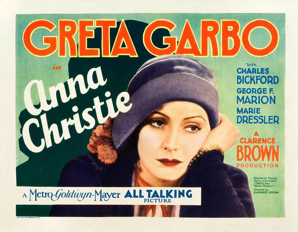 Anna Christie (1930) starring Greta Garbo, US lobby card
