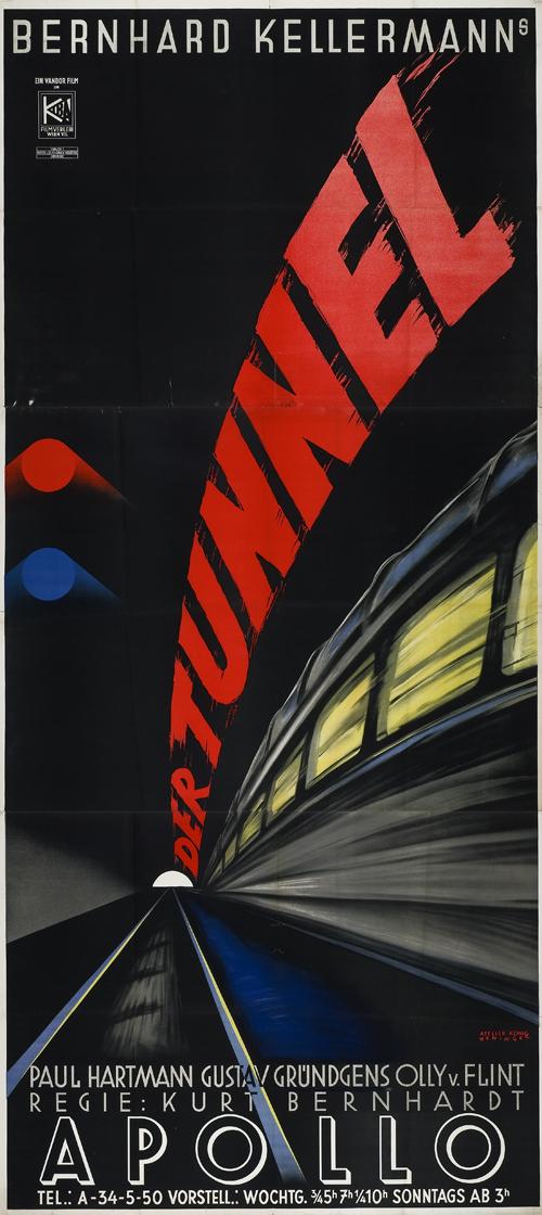 Der Tunnel (1933) Vienna Apollo Cinema première poster, 1934