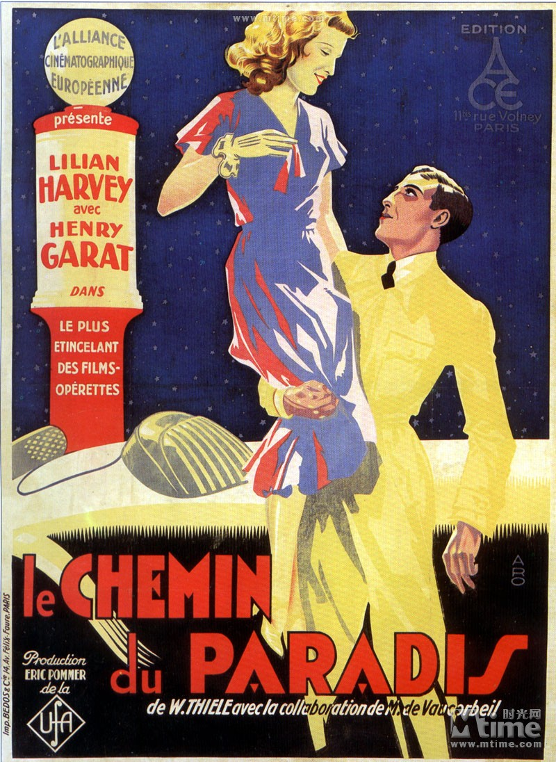 Le chemin du paradis aka The Road to Paradise (1930) French posterb