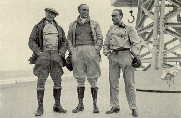 Hans Albers, Conrad Veidt and Charles Boyer, stars of the German, English and French multiple language versions of F.P.1 Doesn't Answer (1932)
