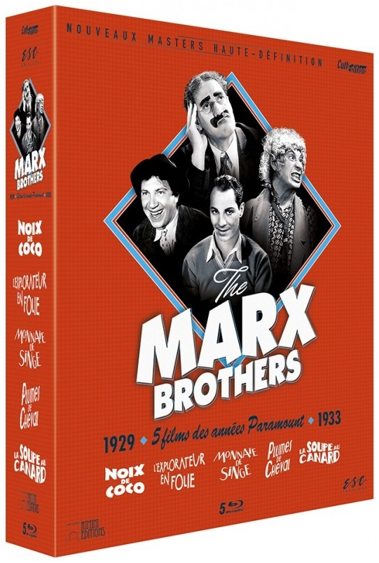 Marx Brothers Cult Edition French ESC Distribution Blu-ray box set