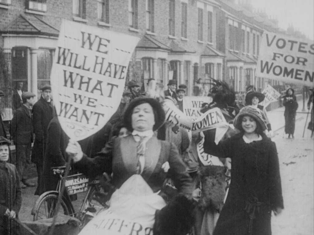 Protesting suffragettes, early 1900s