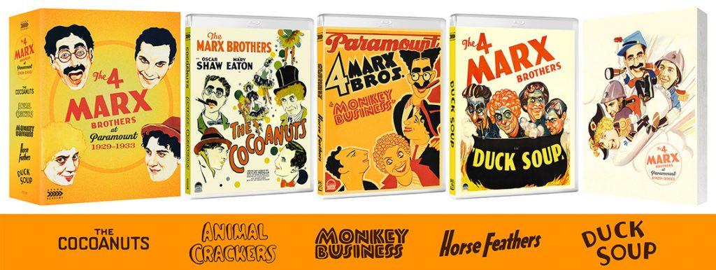 The 4 Marx Brothers at Paramount 1929–1933 UK Arrow Academy Blu-ray box set