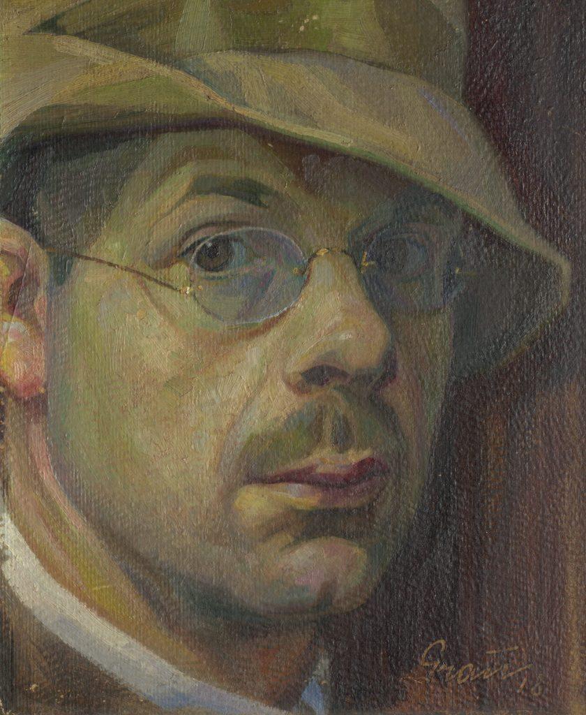 Albin Grau self portrait (1918) courtesy of Kantonsbibliothek Appenzell Ausserrhoden