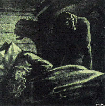 Nosferatu (1922) victim storyboard by Albin Grau