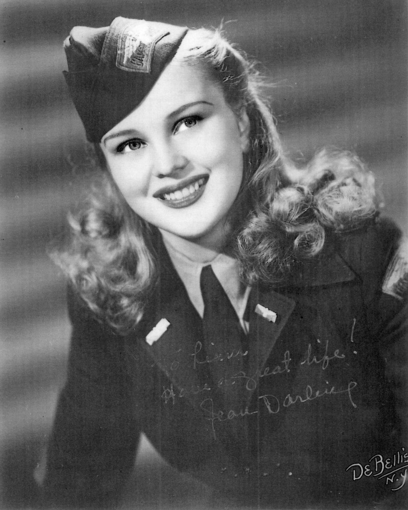 Jean Darling, c.1940s, in army uniform