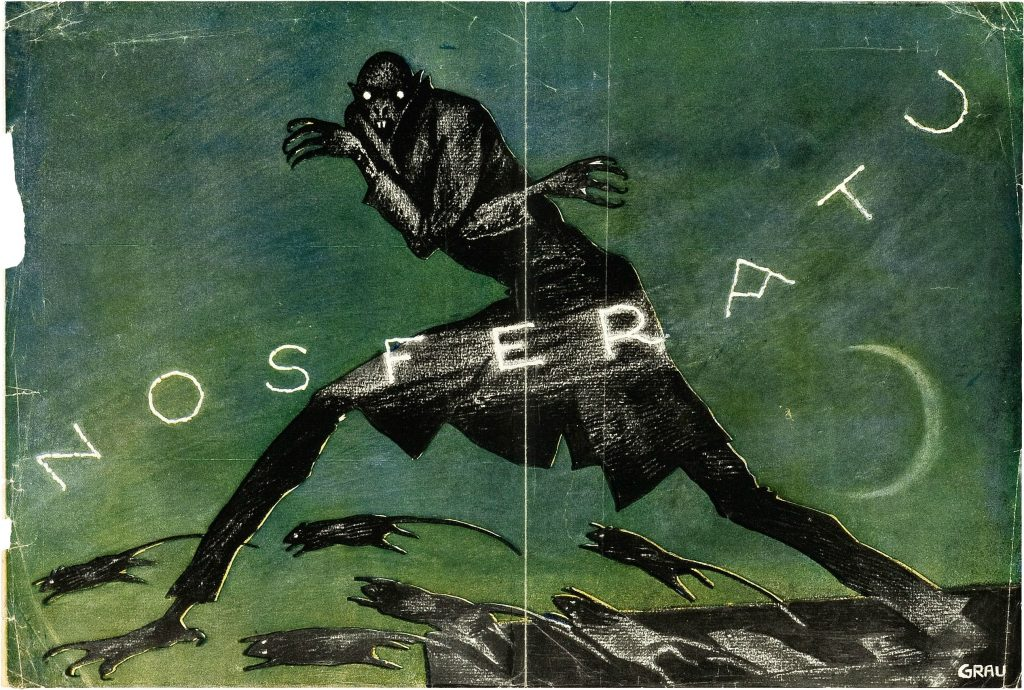 Nosferatu (1922) German poster by Albin Grau
