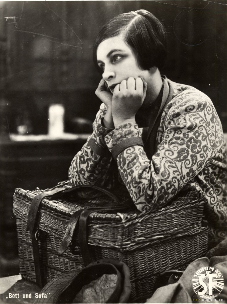 Lyudmilla Semyonova as Lyuda in Bed and Sofa (1927)