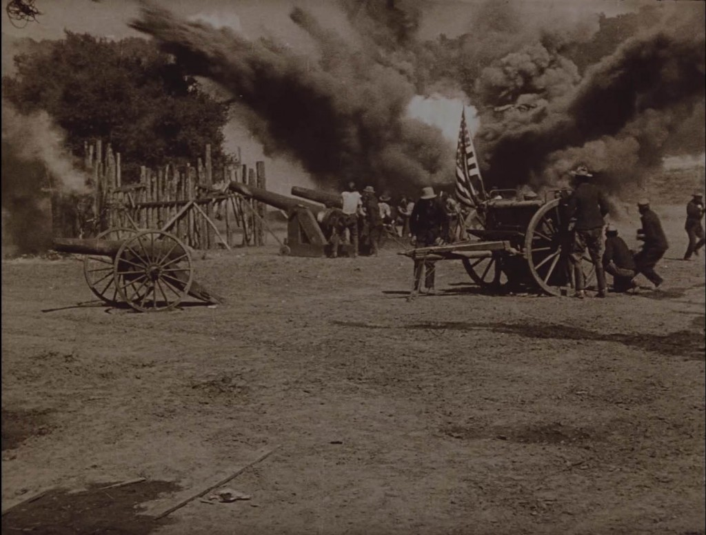 The Birth of a Nation (1915) BFI Blu-ray screenshot, cannons