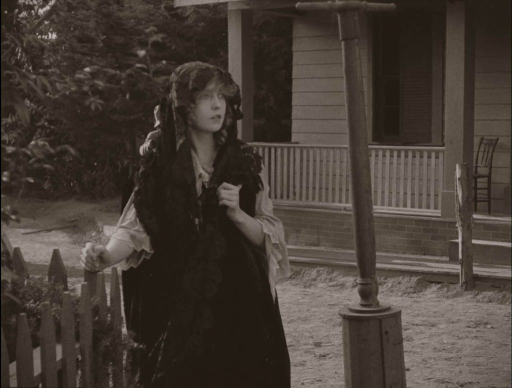 Lillian Gish in The Birth of a Nation (1915), BFI Blu-ray screenshot