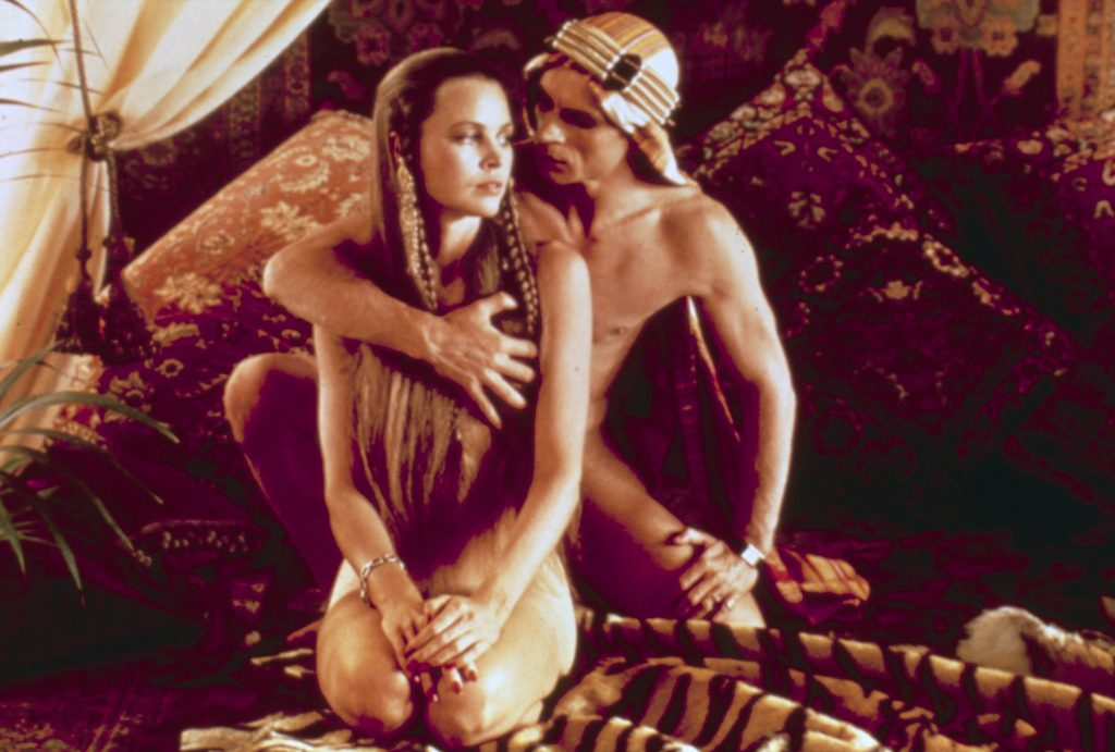 Michelle Phillips and Rudolf Nuryev in Ken Russell's Valentino (1977), naked