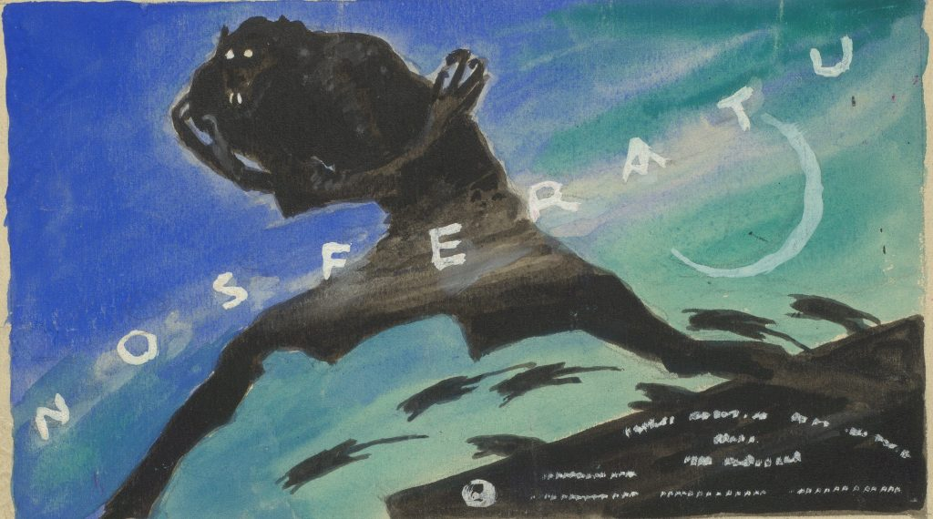 Nosferatu (1922) Albin Grau watercolour poster design for the Berlin Cinema at Alexanderplatz