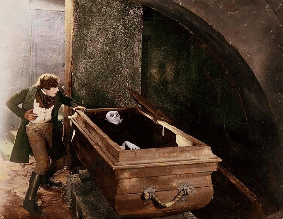 Nosferatu (1922) with Gustav von Wangenheim (L) and Max Schreck