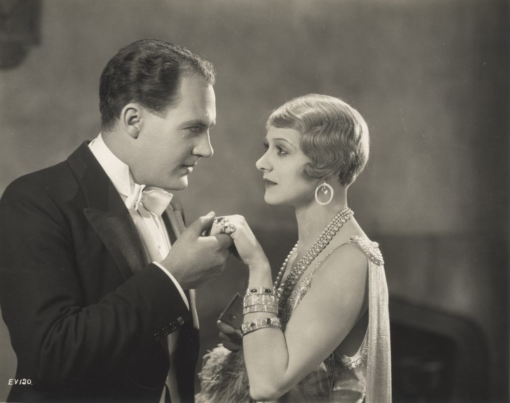 Ian Hunter and Isabel Jeans in Easy Virtue (1927, dir. Alfred Hitchcock)