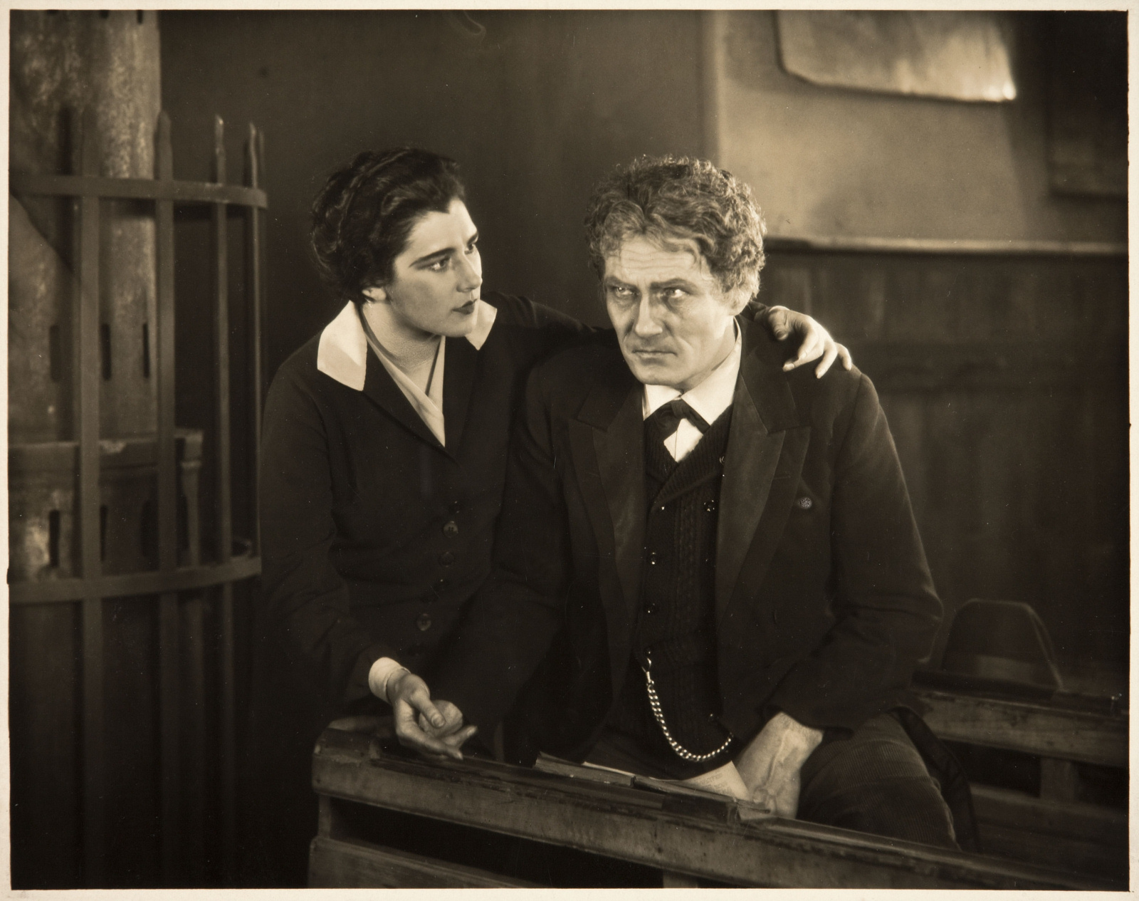 Nita Naldi and Bernhard Goetzke in The Mountain Eagle (1926, dir. Alfred Hitchcock)