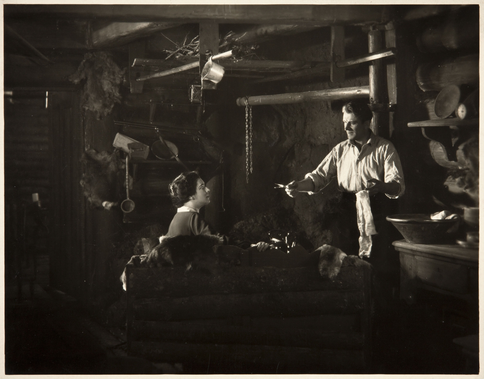 Nita Naldi and Malcolm Keen in The Mountain Eagle (1926, dir. Alfred Hitchcock)