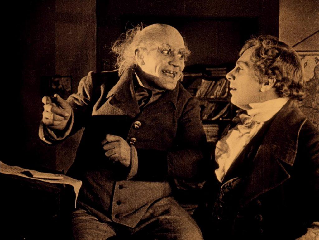Alexander Granach (L) and Gustav von Wangenheim in Nosferatu (1922) UK BFI Blu-ray