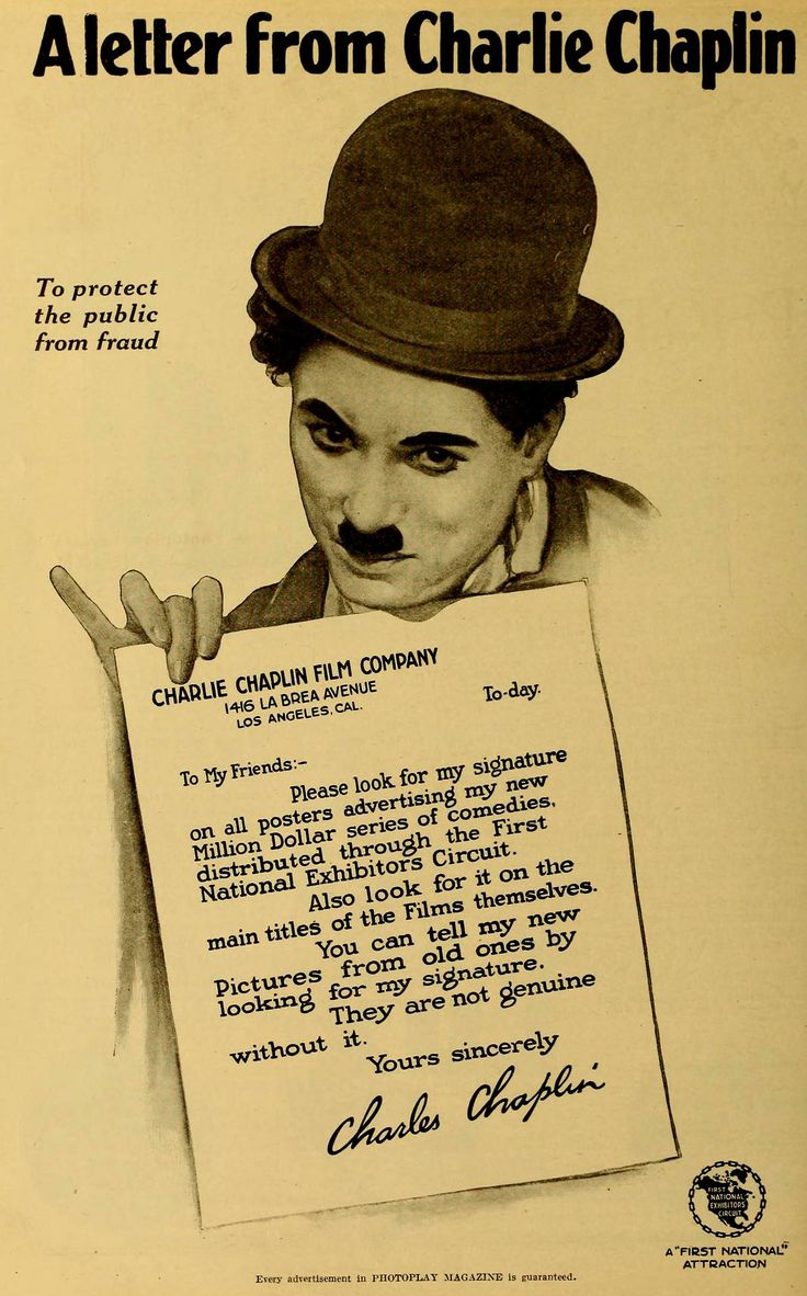Charlie Chaplin First National US Photoplay magazine advert, 1918