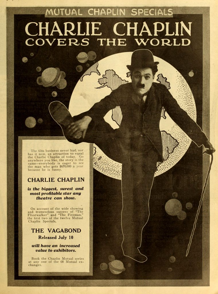 The Vagabond (1916, Charlie Chaplin) US Mutual trade ad