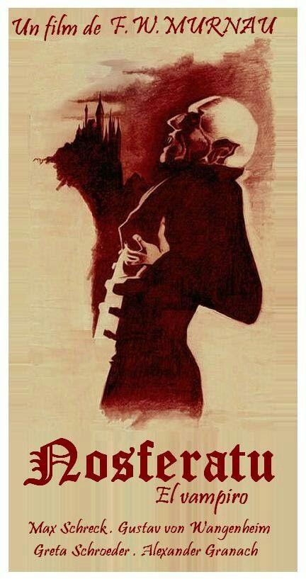 Nosferatu (1922) modern Spanish-language poster, artist unknown