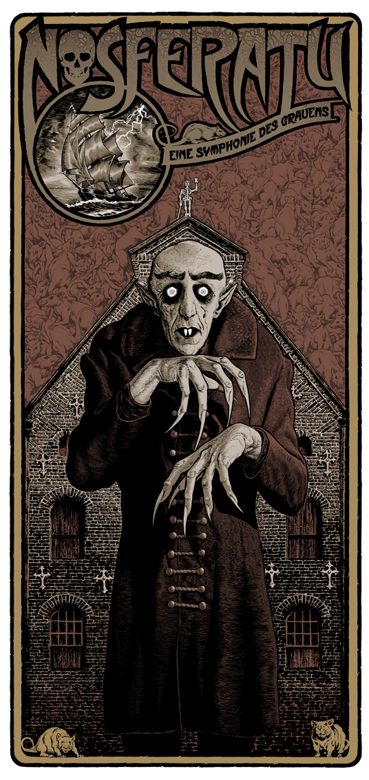 Nosferatu (1922) poster by Chris Weston, 2013