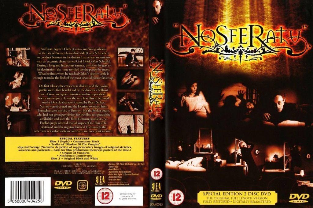 Nosferatu (1922) UK Eureka 2-DVD set, 2000