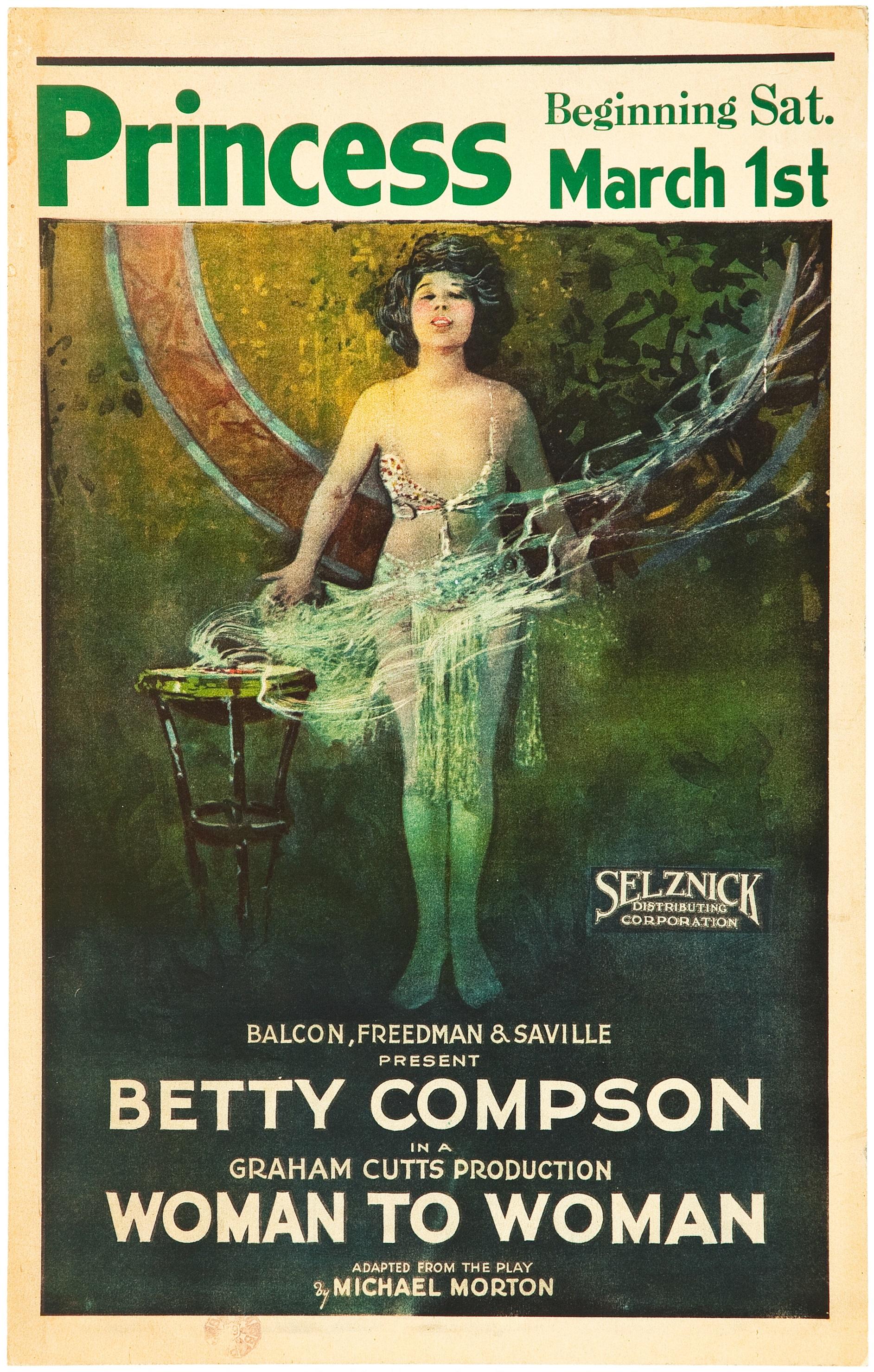 Woman to Woman (1923, asst dir. Alfred Hitchcock) US window card