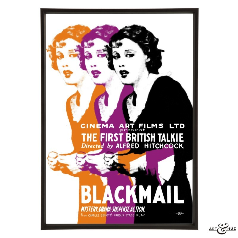Blackmail (1929, dir. Alfred Hitchcock) pop art print by Odysseas Constantine for Art & Hue, 2018