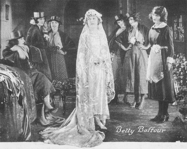 Betty Balfour in her wedding dress in Squibs Honeymoon (1923)