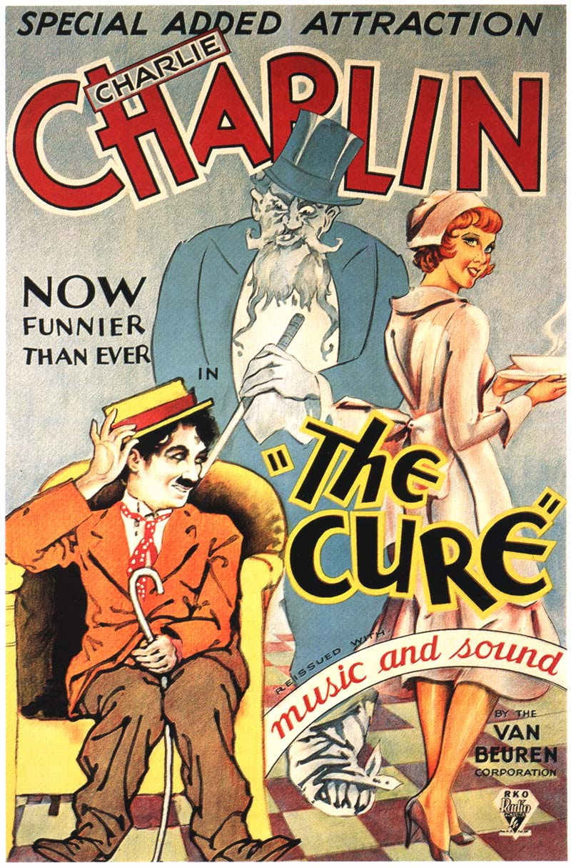 The Cure (1917) with Charlie Chaplin, 1932 Van Beuren reissue poster