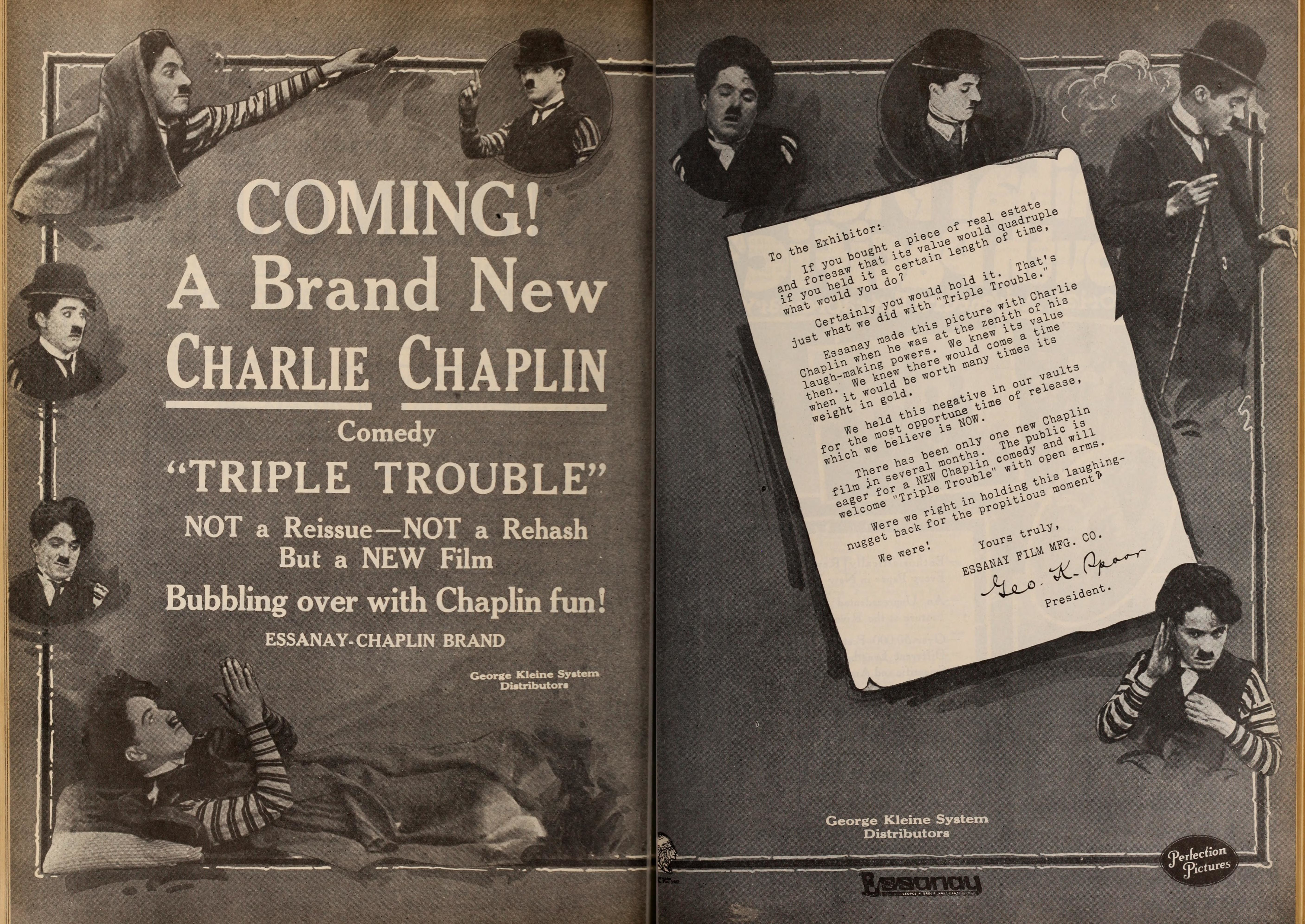 Triple Trouble advert, Motion Picture News magazine, August 3, 1918, p.704-705