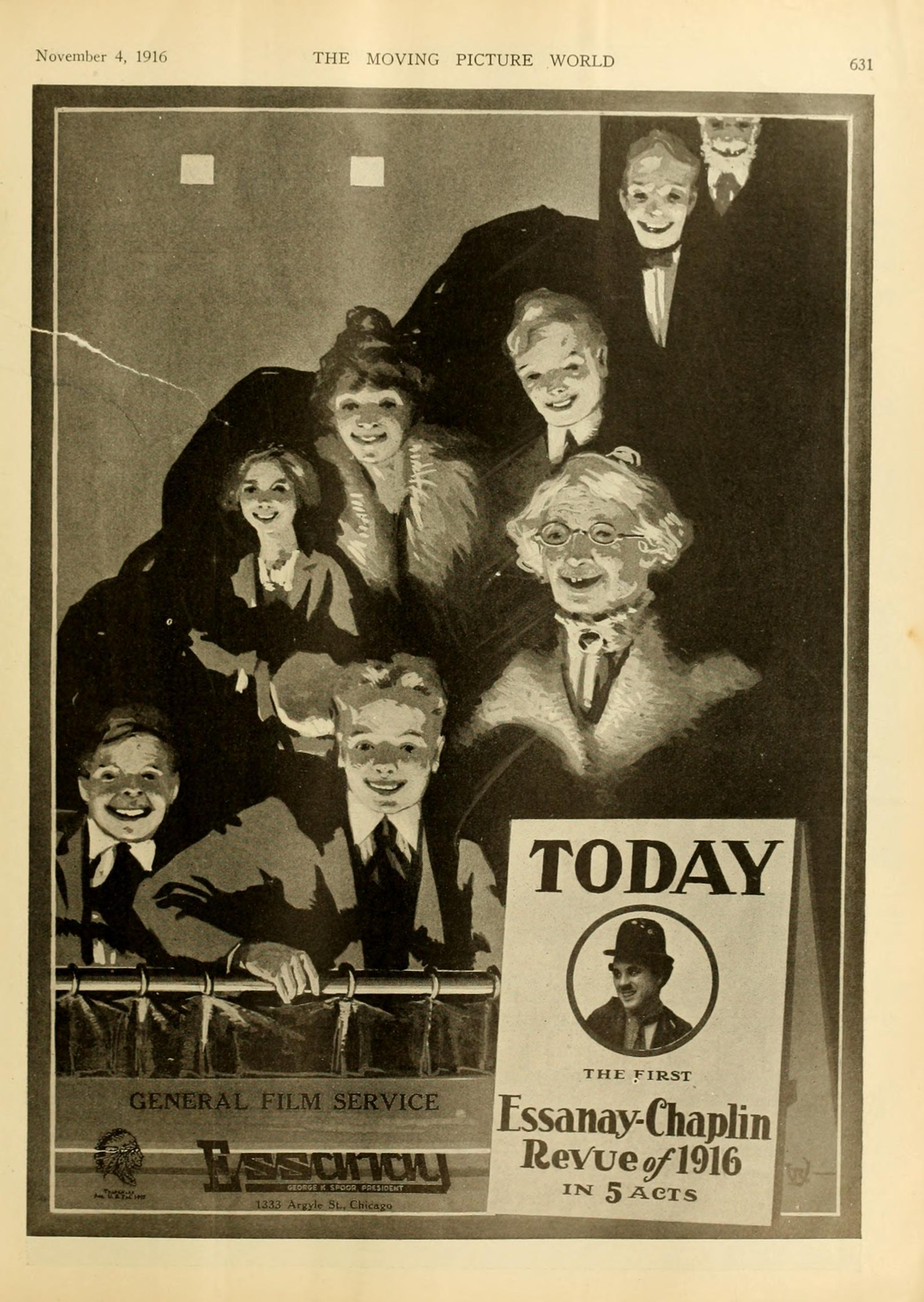 The Essanay-Chaplin Revue of 1916, Moving Picture World magazine, Nov 4, p.631