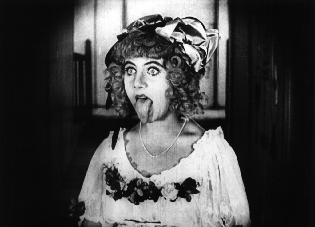 The rather wonderful Ossi Oswalda in Die Puppe/The Doll (1919) - and yes, that is her real tongue!