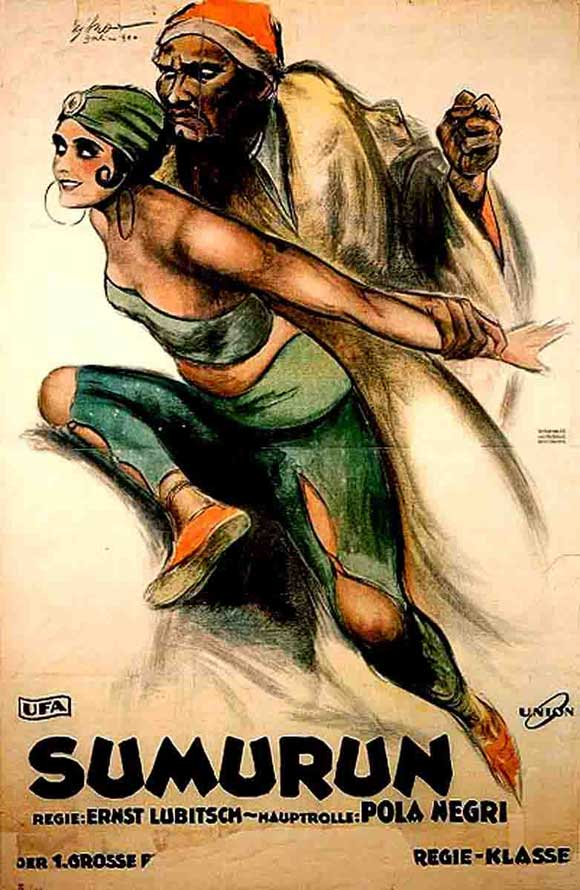 Sumurun aka One Arabian Night (1920) with Pola Negri and Ernst Lubitsch, German film poster