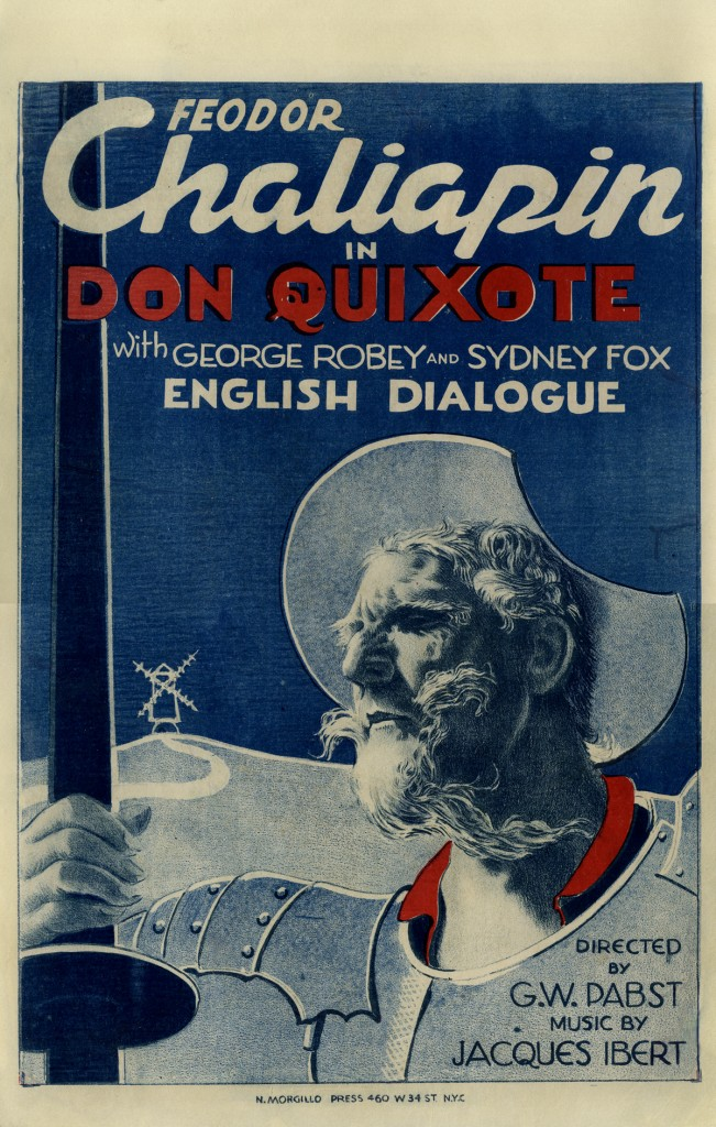 Don Quixote (1933) starring Feodor Chaliapin, US film poster