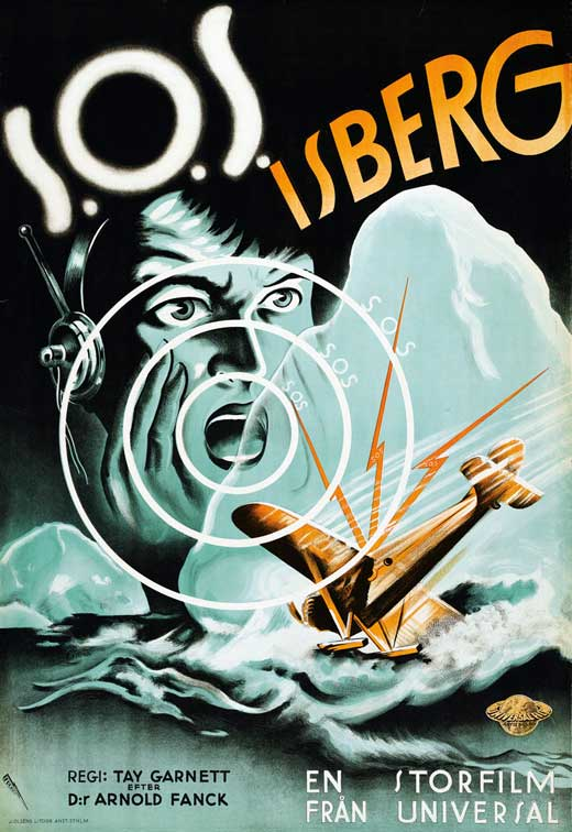 S.O.S. Iceberg (1933) Swedish film poster