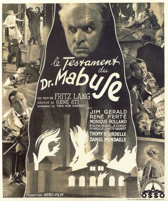 The Testament of Dr. Mabuse (1933) French film poster