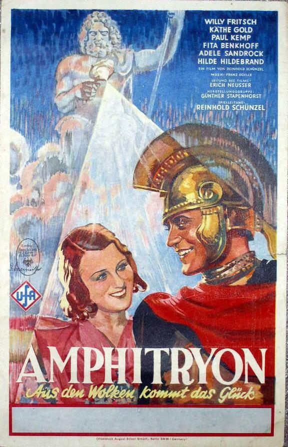 Amphitryon – Aus den Wolken kommt das Glück (1935) mit Willy Fritsch, Filmplakat (German film poster)