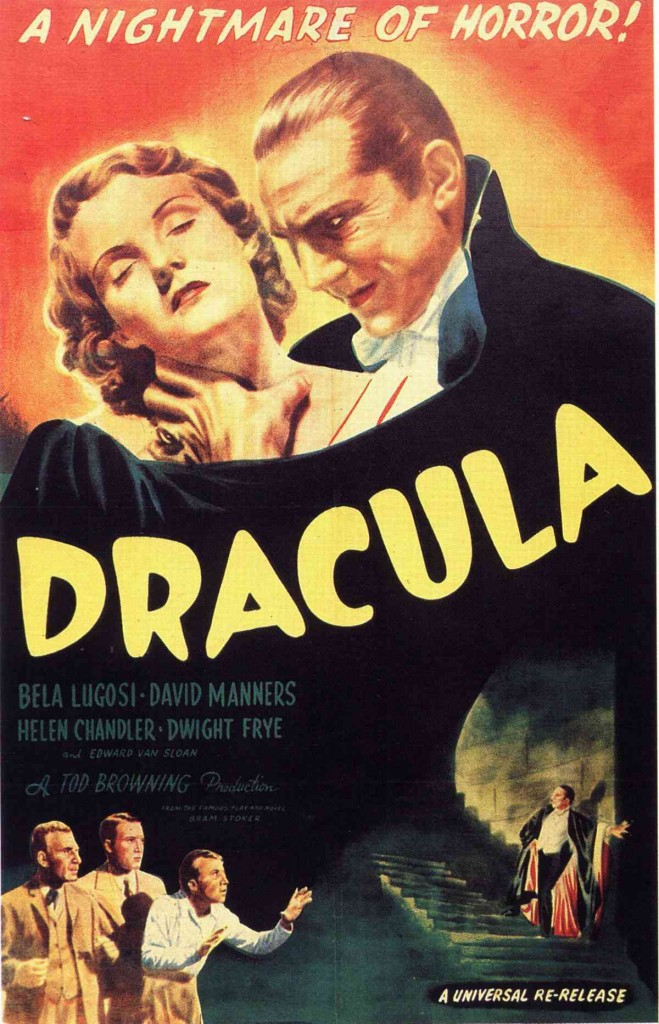 Dracula (1931) starring Bela Lugosi, US 1947 re-release poster