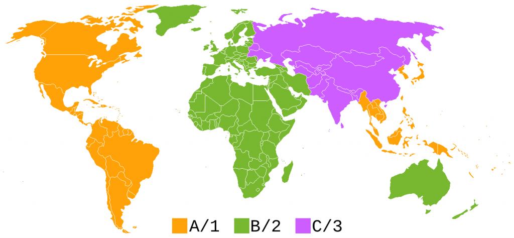 Blu-ray regions worldwide