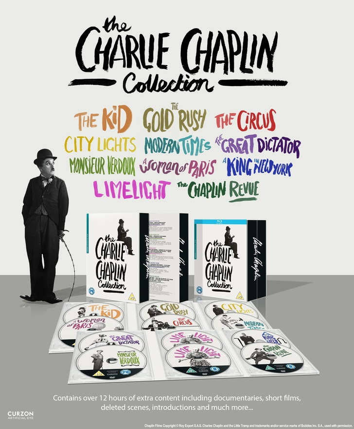 Charlie Chaplin Collection (Artificial Eye) UK DVD and Blu-ray box set ad