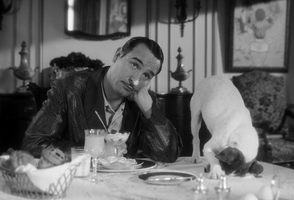 Jean Dujardin and Uggie the dog, stars of The Artist (2011)