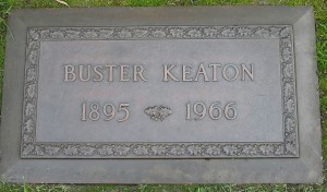 Buster Keaton's memorial tablet in Forest Lawn Memorial Park, Los Angeles