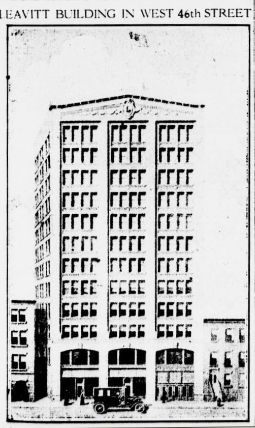 Leavitt Building, 130 West 46th Street, NYC, circa 1920s