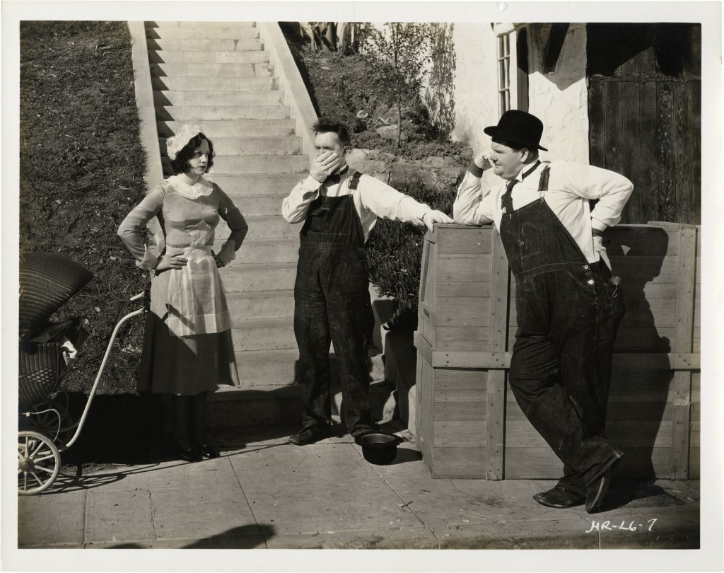 Lilyan Irene, Stan Laurel and Oliver Hardy in The Music Box (1932)