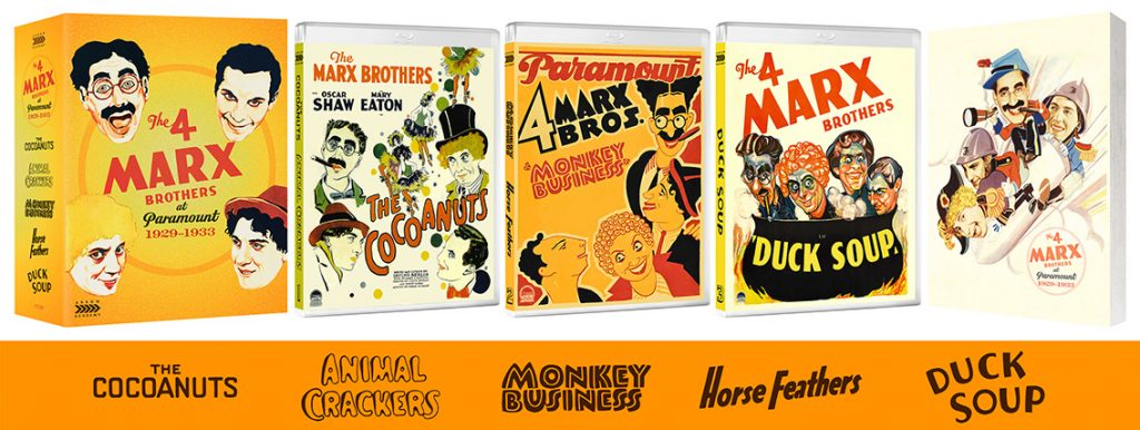 The 4 Marx Brothers at Paramount 1929–1933 UK Arrow Academy Blu-ray box set