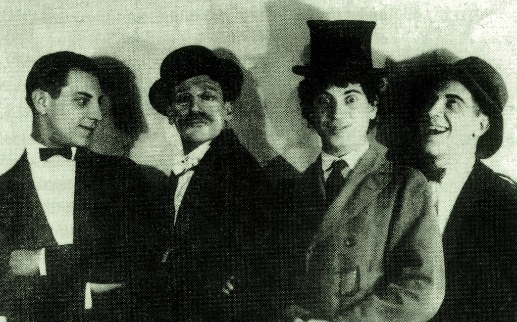 The Marx Brothers in On the Mezzanine Floor (1921), a stage success from around the time of their movie failure.